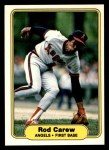 1982 Fleer #455  Rod Carew  Front Thumbnail