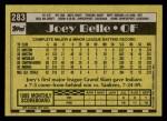 1990 Topps #283  Albert Belle  Back Thumbnail