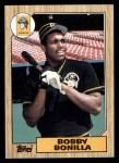 1987 Topps #184  Bobby Bonilla  Front Thumbnail