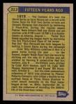 1987 Topps #313   -  Roberto Clemente Turn Back The Clock Back Thumbnail