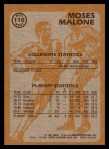 1981 Topps #110 MW  -  Moses Malone Super Action Back Thumbnail