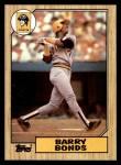 1987 Topps #320  Barry Bonds  Front Thumbnail