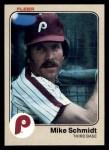 1983 Fleer #173  Mike Schmidt  Front Thumbnail
