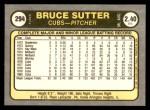 1981 Fleer #294  Bruce Sutter  Back Thumbnail