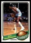 1979 Topps #61  Nick Weatherspoon  Front Thumbnail