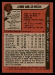 1979 Topps #55  John Williamson  Back Thumbnail