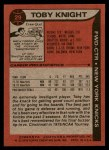 1979 Topps #29  Toby Knight  Back Thumbnail