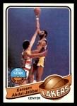 1979 Topps #10  Kareem Abdul-Jabbar  Front Thumbnail