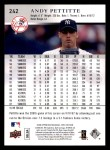 2008 Upper Deck First Edition #242  Andy Pettitte  Back Thumbnail