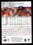 2008 Upper Deck First Edition #39  Mark Teixeira  Back Thumbnail