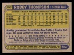 1987 Topps #658  Robby Thompson  Back Thumbnail