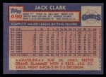 1984 Topps #690  Jack Clark  Back Thumbnail