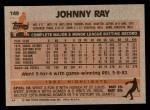 1983 Topps #149  Johnny Ray  Back Thumbnail