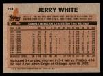 1983 Topps #214  Jerry White  Back Thumbnail