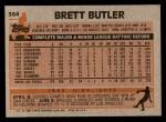 1983 Topps #364  Brett Butler  Back Thumbnail