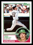 1983 Topps #513  Fred Stanley  Front Thumbnail