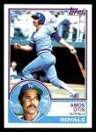 1983 Topps #75  Amos Otis  Front Thumbnail