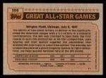 1983 Topps #396   -  Dan Quisenberry All-Star Back Thumbnail