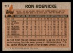 1983 Topps #113  Ron Roenicke  Back Thumbnail