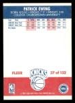 1987 Fleer #37  Patrick Ewing  Back Thumbnail