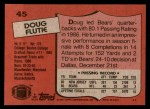 1987 Topps #45  Doug Flutie  Back Thumbnail