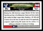 2008 Topps Updates #288   -  Evan Longoria All-Star Back Thumbnail