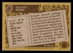1986 Topps #19  Richard Dent  Back Thumbnail