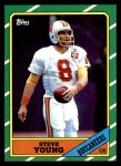 1986 Topps #374  Steve Young  Front Thumbnail