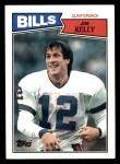 1987 Topps #362  Jim Kelly  Front Thumbnail
