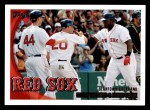 2010 Topps #302   -  Kevin Youkilis / David Ortiz Beantown Backhand Front Thumbnail