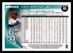 2010 Topps #85  Ken Griffey Jr.  Back Thumbnail