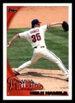 2010 Topps #70  Cole Hamels  Front Thumbnail