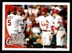 2010 Topps #232   Cardinals Team Front Thumbnail