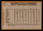 1981 Topps #51   Warriors Leaders Back Thumbnail