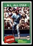 1981 Topps #540  Mike Schmidt  Front Thumbnail