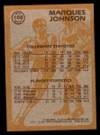 1981 Topps #108 MW  -  Marques Johnson Super Action Back Thumbnail