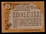 1981 Topps #75 MW Roger Phegley  Back Thumbnail