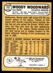 1968 Topps #476  Woody Woodward  Back Thumbnail