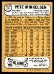 1968 Topps #516  Pete Mikkelsen  Back Thumbnail