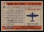 1957 Topps Planes #66 RED  Boeing Drone Back Thumbnail