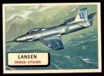 1957 Topps Planes #34 RED  Lansen Front Thumbnail