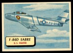 1957 Topps Planes #89 RED  F86-D Sabre Front Thumbnail