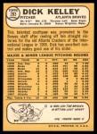 1968 Topps #203  Dick Kelley  Back Thumbnail