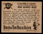 1950 Topps Bring Em Back Alive #82   Leopard Is Caught Back Thumbnail