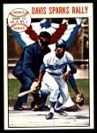1964 Topps #137   1963 World Series - Game #2 - Davis Sparks Rally - Willie Davis Front Thumbnail