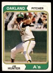 1974 Topps #7  Catfish Hunter  Front Thumbnail