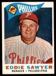 1960 Topps #226  Eddie Sawyer  Front Thumbnail