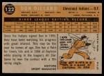 1960 Topps #122   -  Don Dillard Rookie Star Back Thumbnail