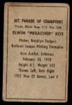 1952 Berk Ross  Preacher Roe  Back Thumbnail