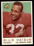 1959 Topps #50  Ollie Matson  Front Thumbnail
